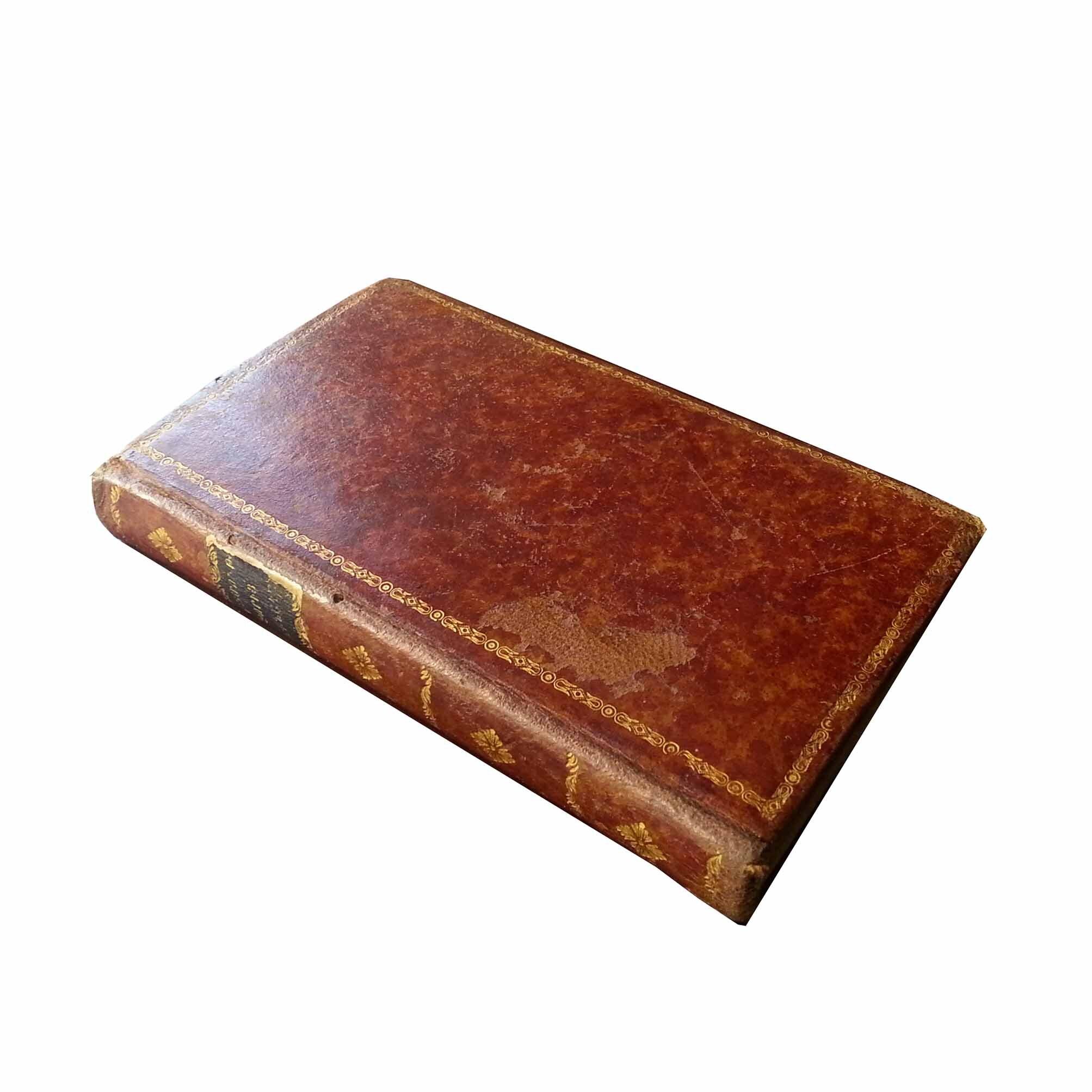 5024 Setean Bible History 1848 Calf Binding Front Spine free N