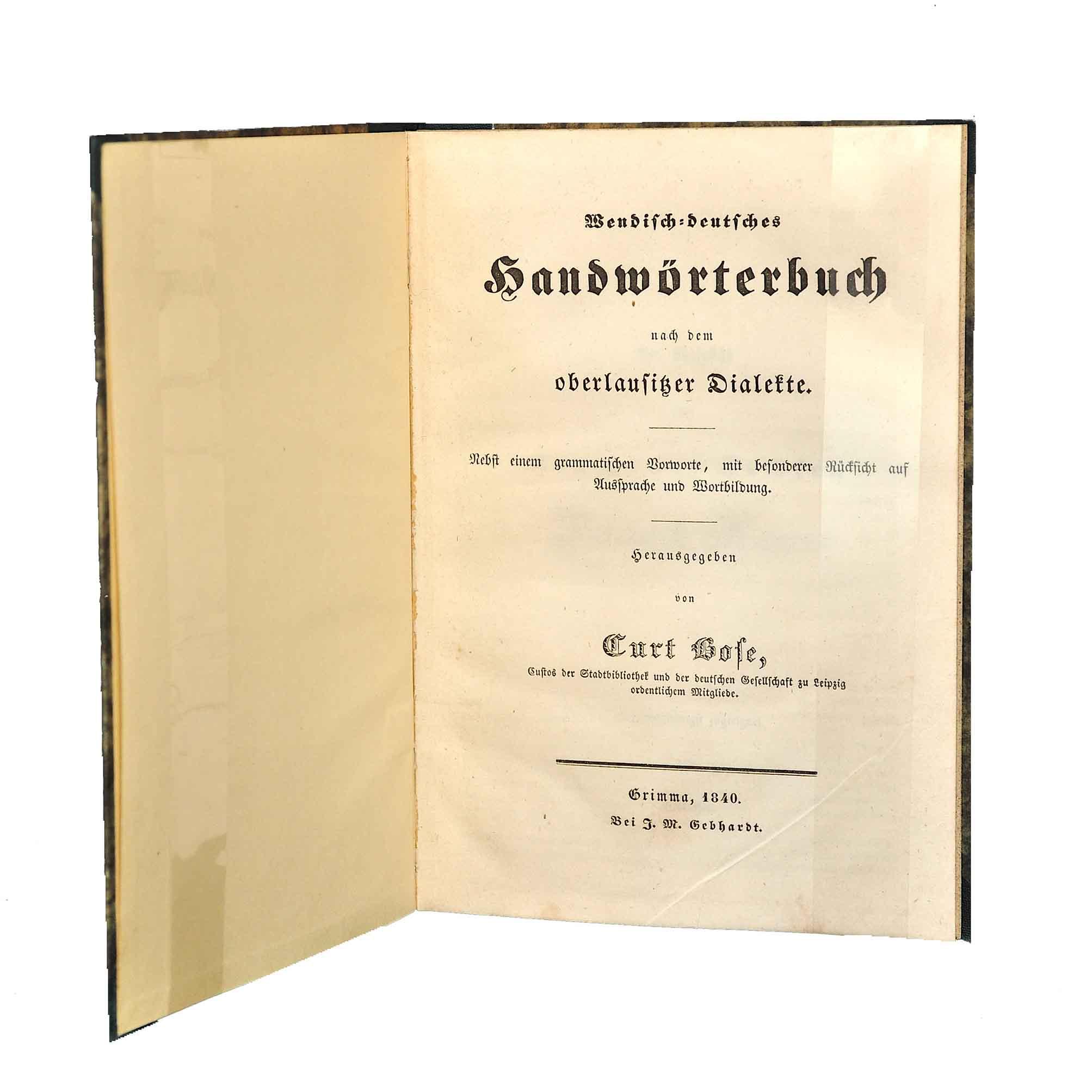 1136 Bose Sorbisch 1840 Titel frei N