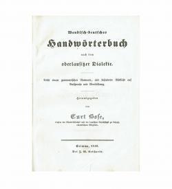 Bose Sorbisch 1840 Titel