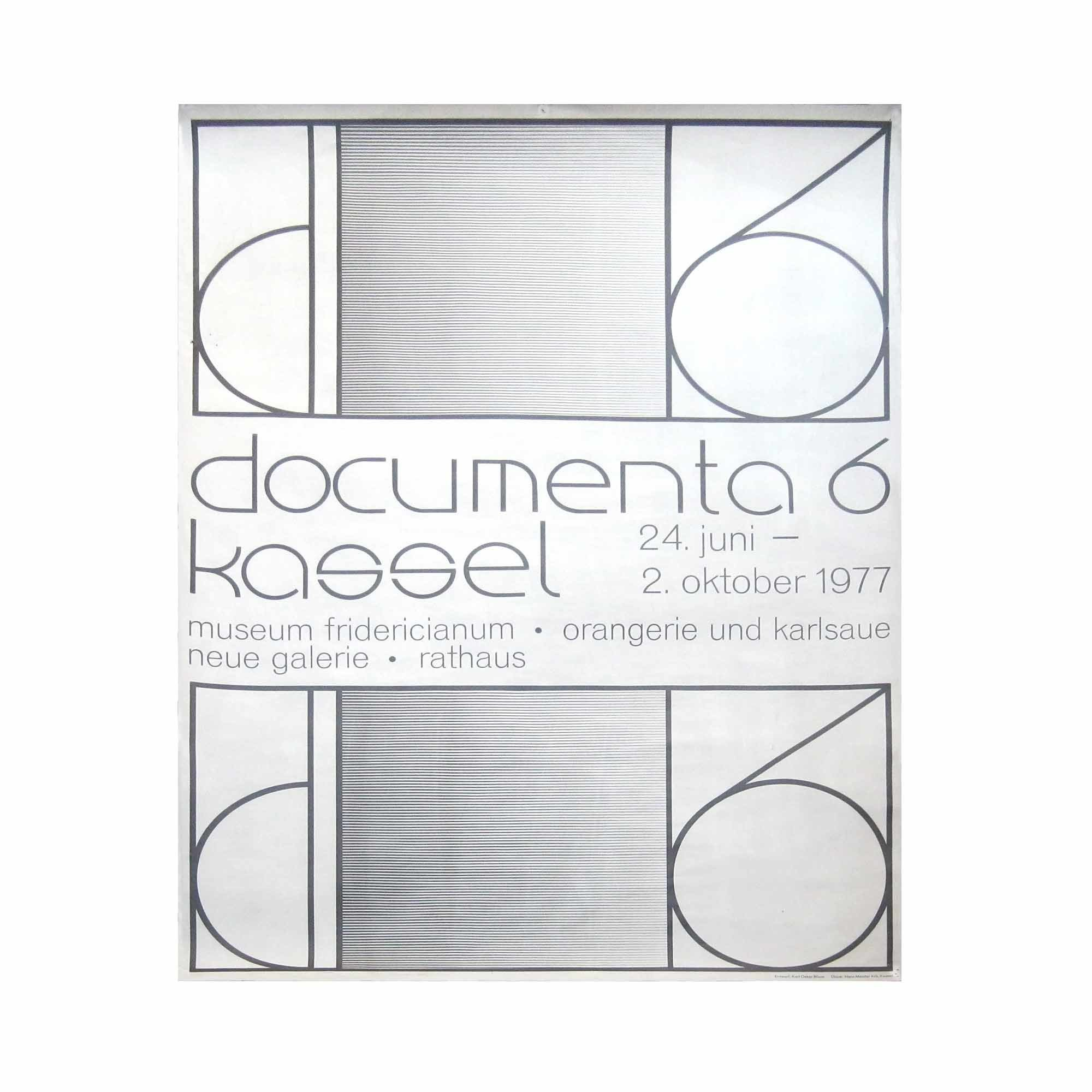 8042 Plakat Documenta Kassel 1977 N