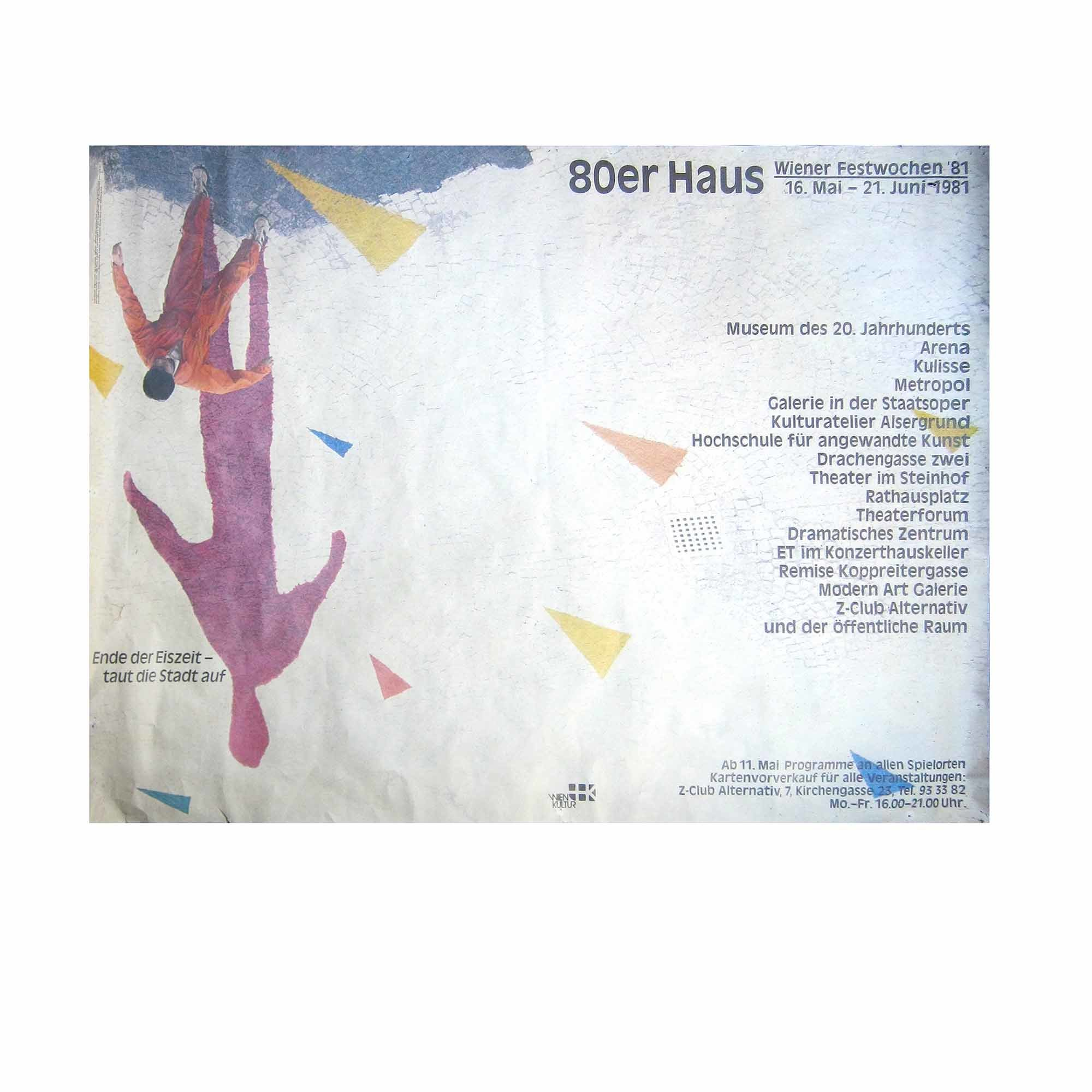 8043 Plakat Gmeiner Wiener Festwochen 1981 N