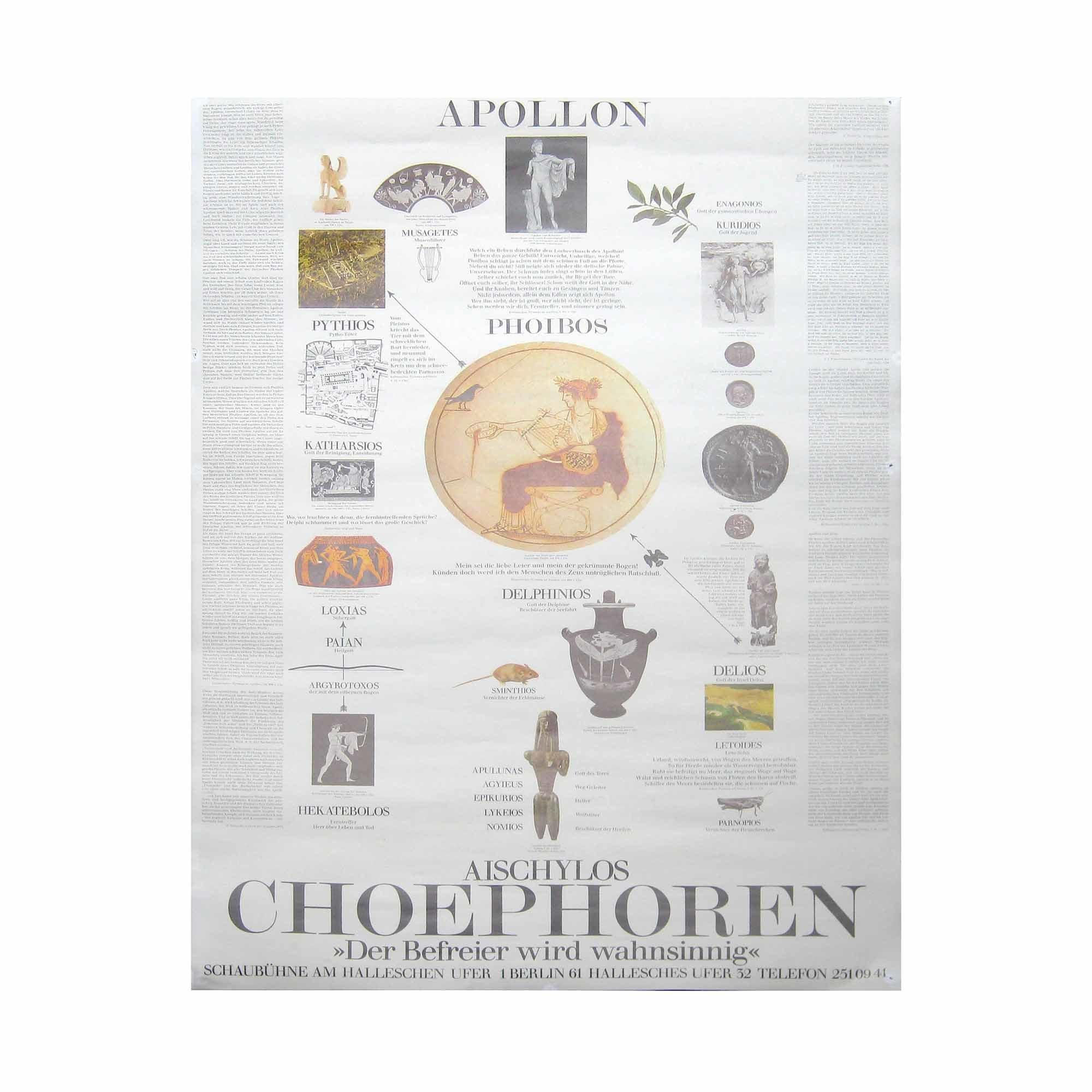 8055 Antikenprojekt Choephoren Schaubühne 3 1980 1 N
