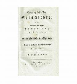 Aldoni Sprachlehre Portugiesisch 1813