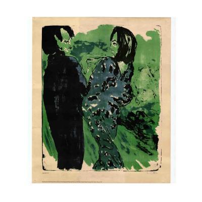 Plakat Nolde Junges Paar 1967 Farblithografie
