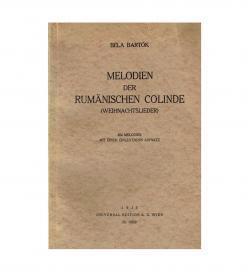 Bartok Colinde 1935 Umschlag