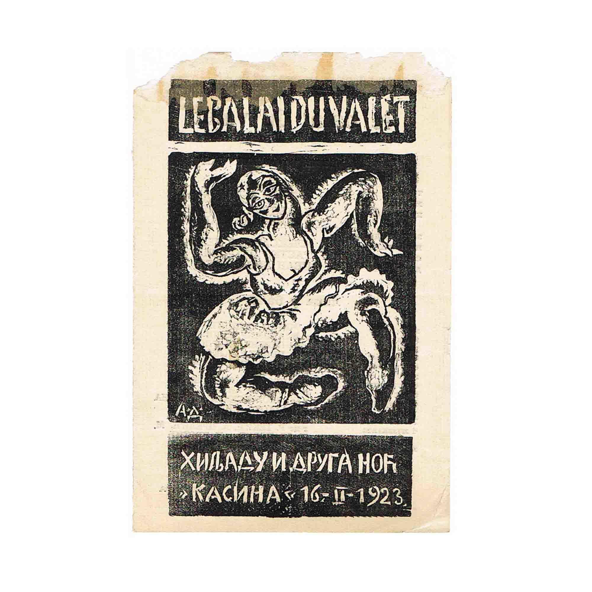 5080 Milojevic Ristic Balai Programm 1923 1 N