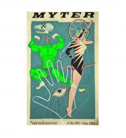 Plakat Regild Myter 1984 Siebdruck