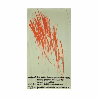 5174 Plakat Prachensky 1958 Informell Siebdruck