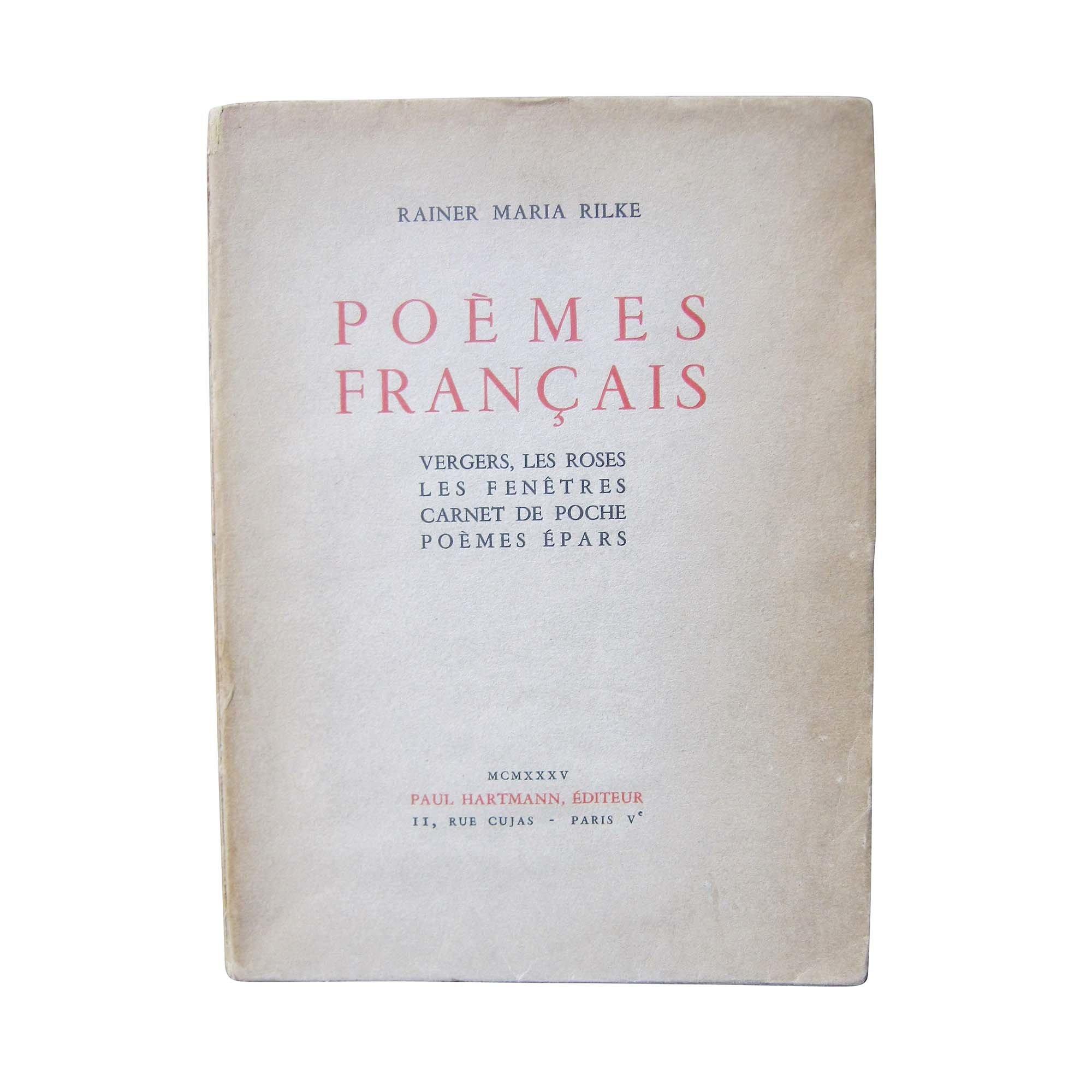 5182 Rilke Poemes Francais 1930 N