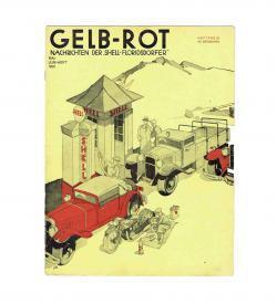 Shell Gelb-Rot Mai-Juni 1931 Cover Dreiseitel