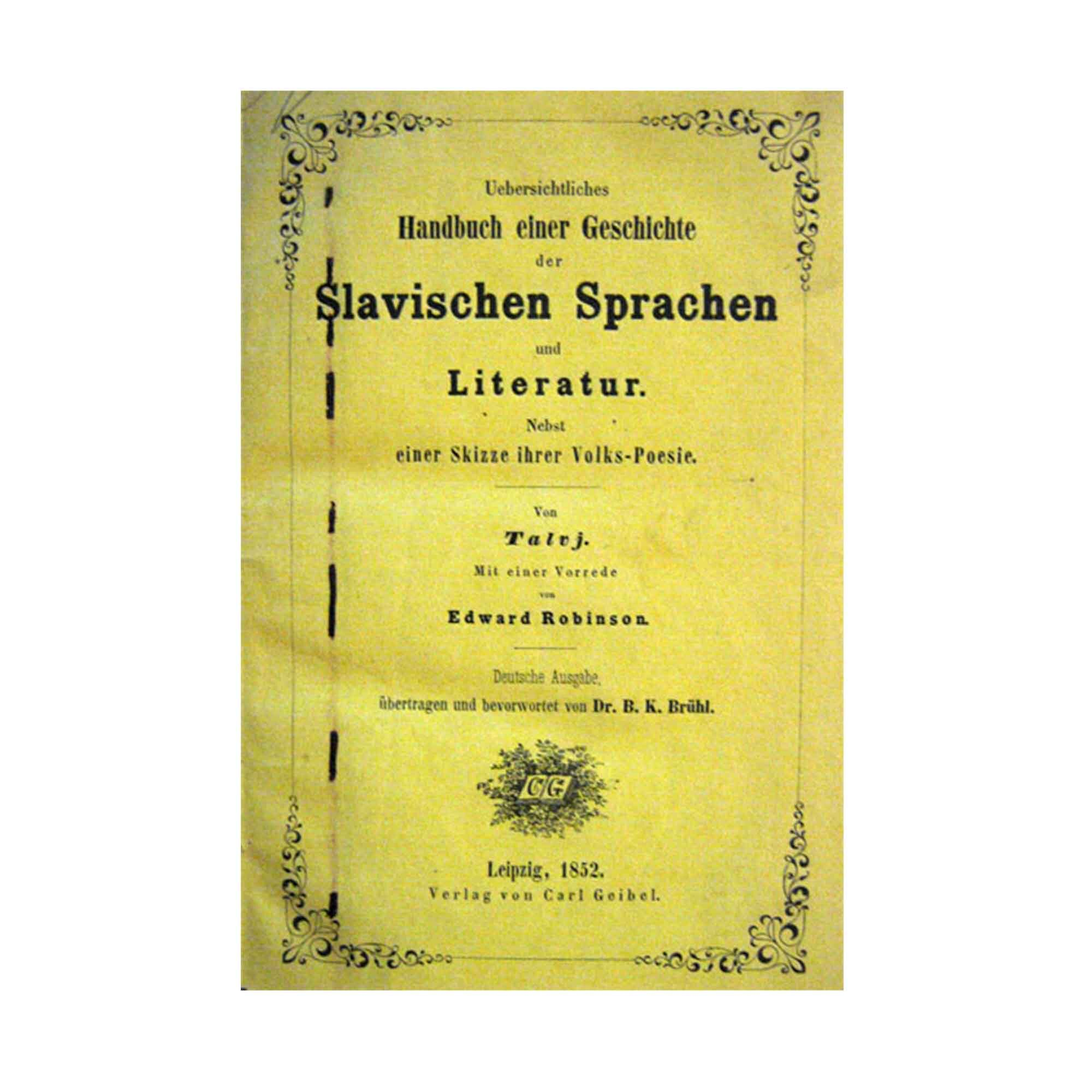1003 Talvj Slavische Sprachen 1853 N