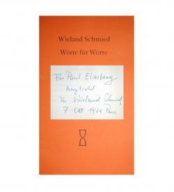 Schmied Eliasberg Worte 1964 Widmung
