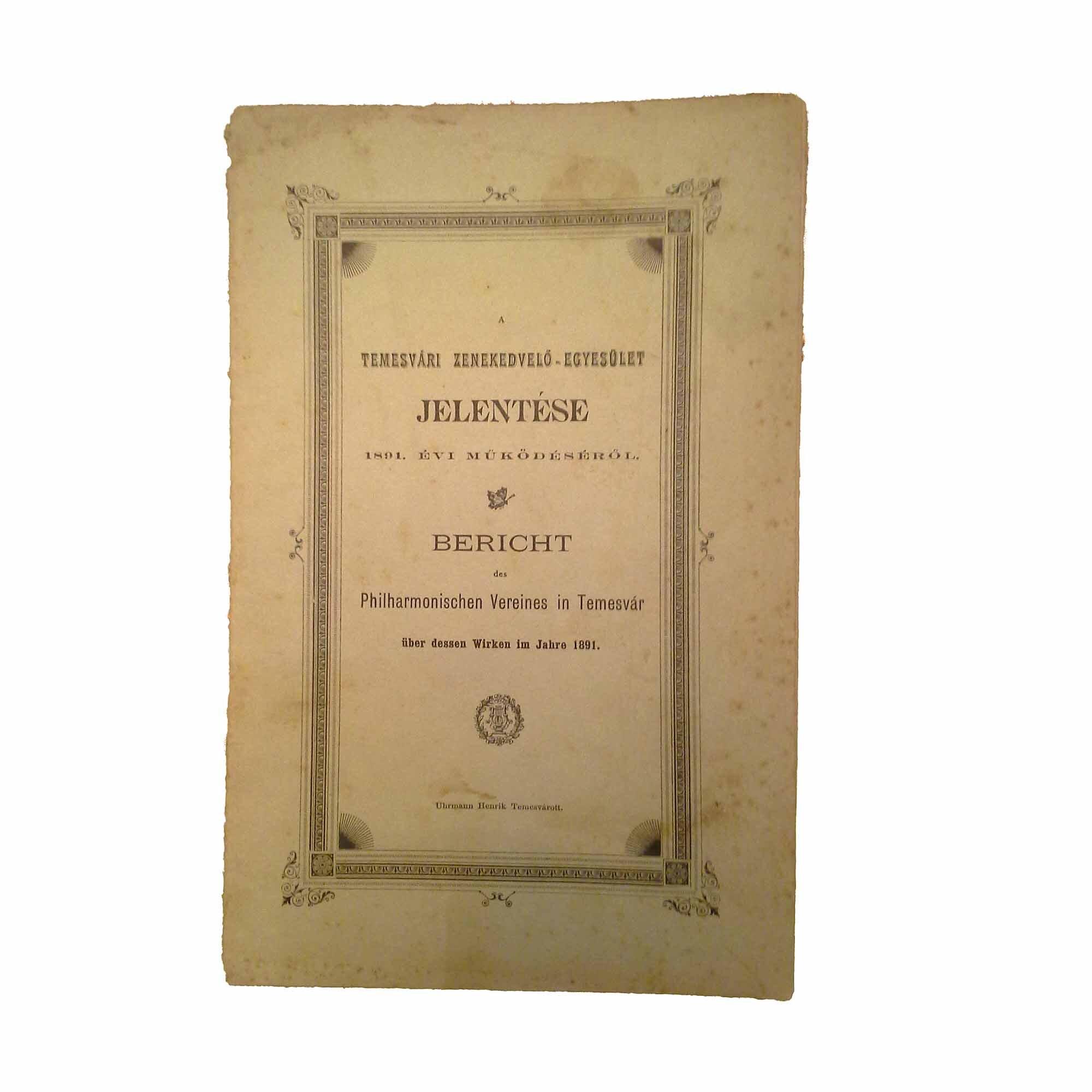 A Angebote – 5332 Phil Verein Temesvar 1891 N