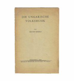 Kodály Ungarische Volksmusik 1941