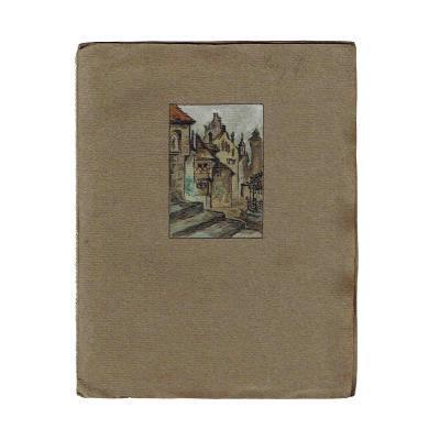 Handschrift Lang Stadt Mittelalter 1917 Umschlag