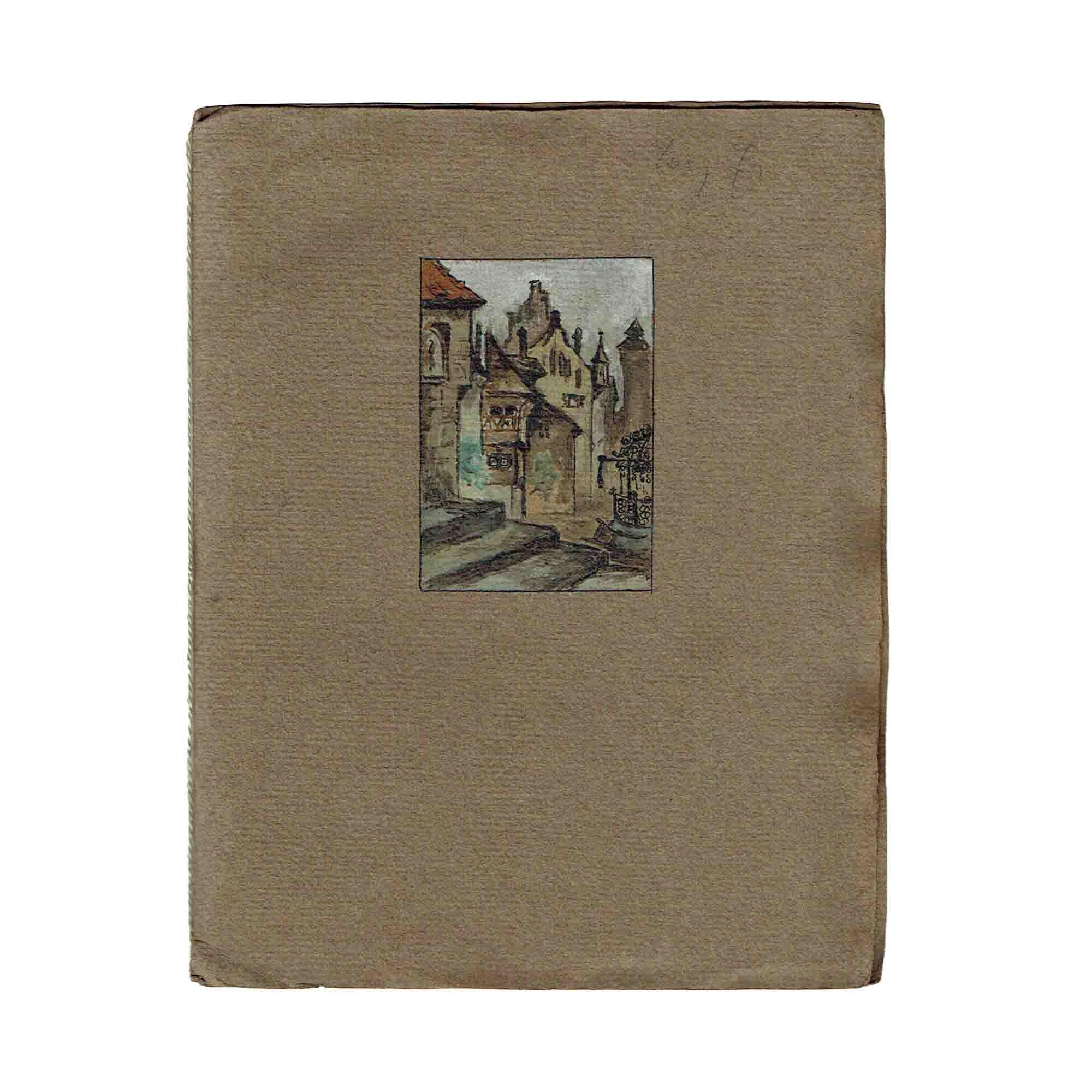 5293 Handschrift Lang Stadt Mittelalter 1917 Umschlag frei N