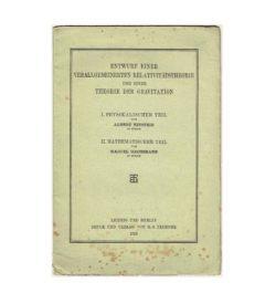 Einstein Relativitätstheorie 1913