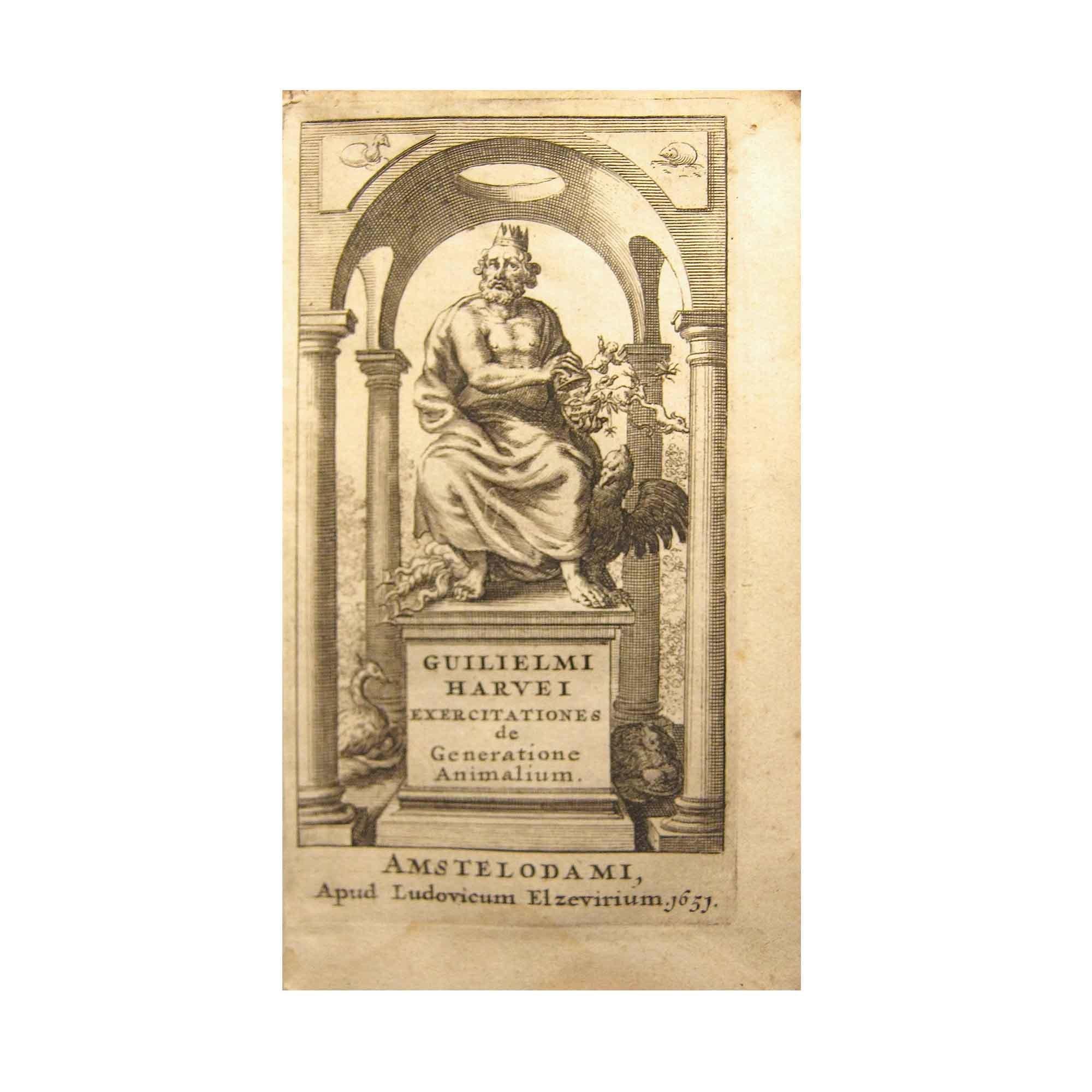 Harvey Generatione Animalium 1653 Titel N