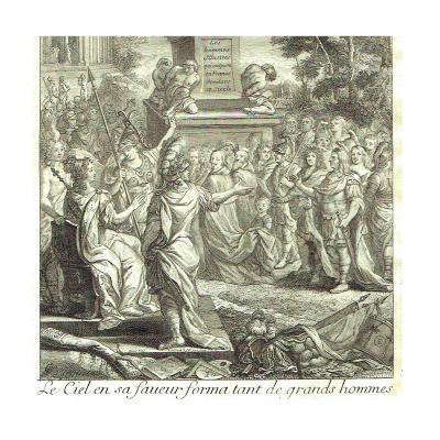 Perrault Hommes illustres 1696 1700 Frontispiece