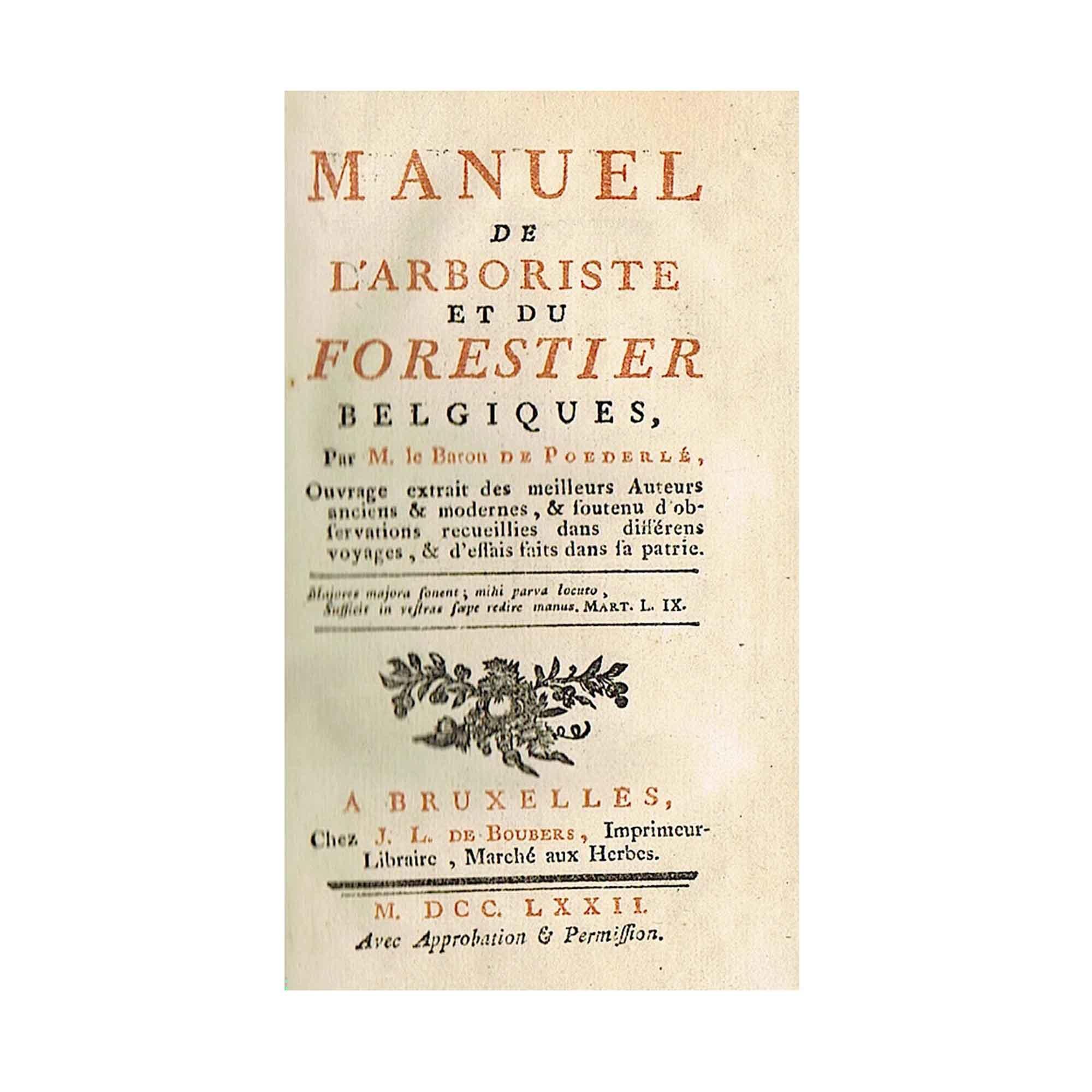 Poederle Arboriste vol 1 1772 Titel N