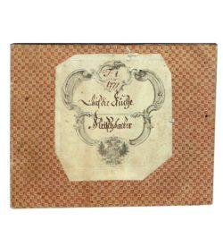 Wareneingangsbuch Fleischhauer Hofküche Wien 1777