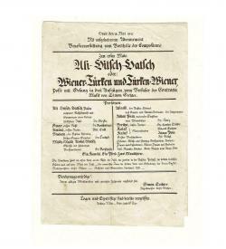 Sechter Ali-Hitsch-Hatsch Zettel Handschrift 1842