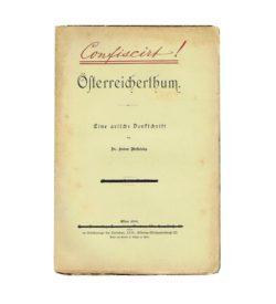 Wesselsky Österreicherthum 1898 Umschlag
