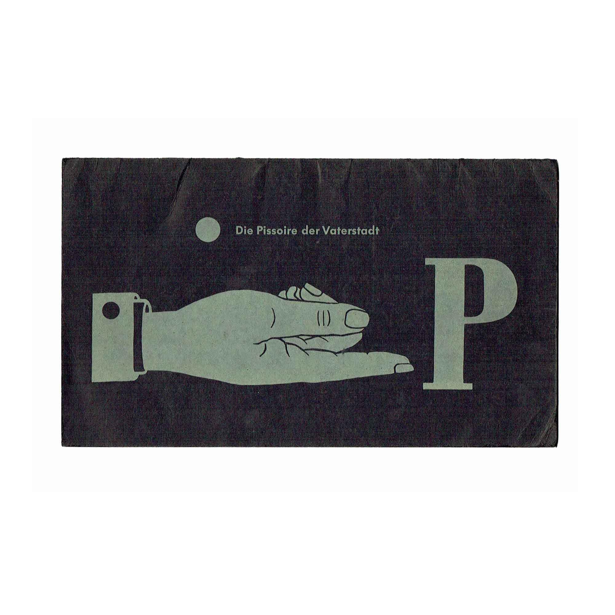 5367 Langenbacher Pissoire Reutlingen 1957 frei N