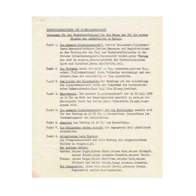 Seyffertitz Typoskript Österreich Olympia 1936