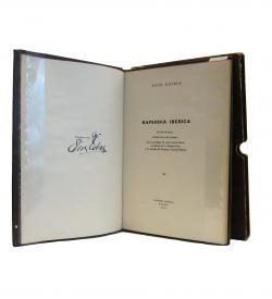 Cotrus Rapsodia Iberica 1954 Titel Autograf