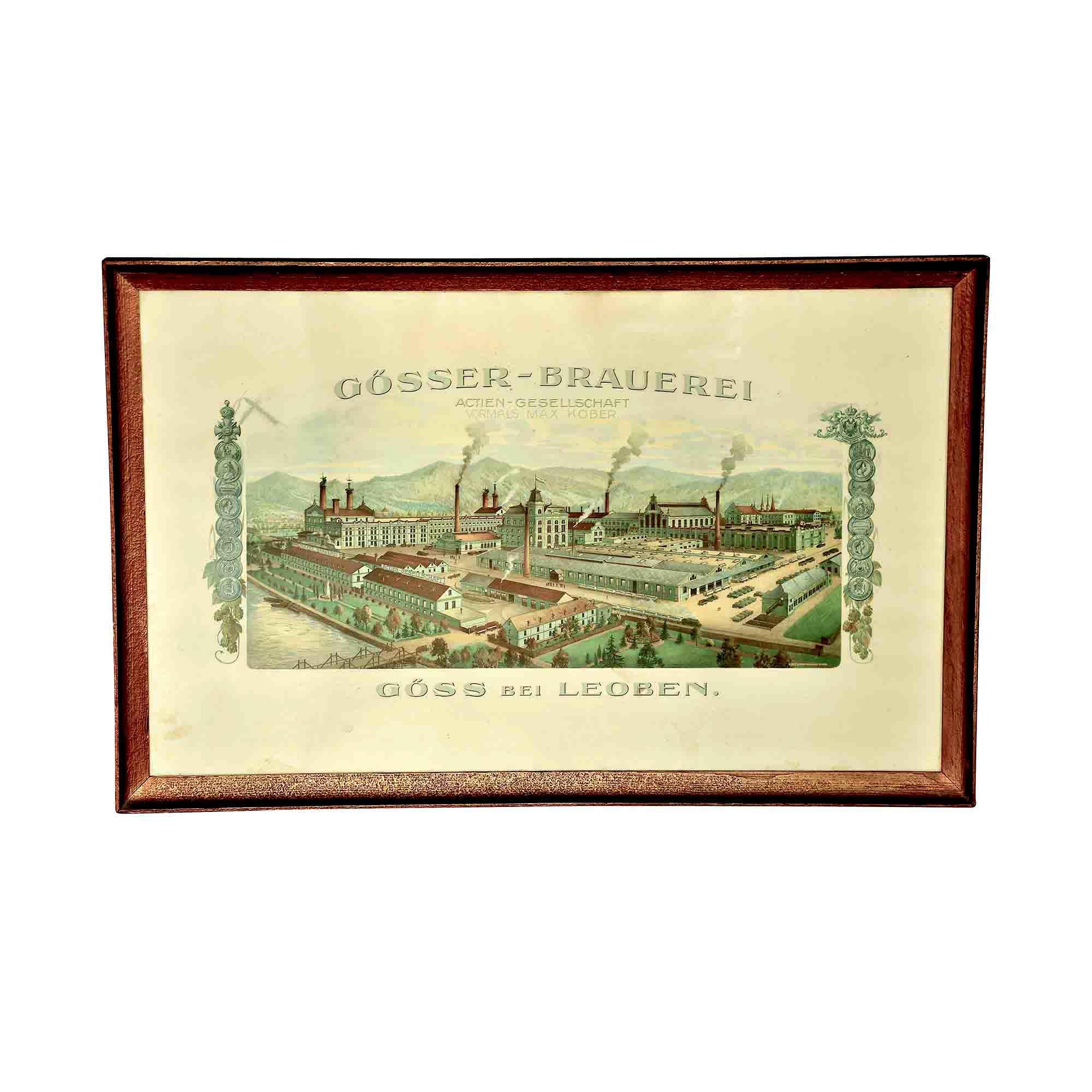 5164 Plakat Brauerei Göss um1930 Gesamt N