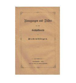 Hintz Geschäftsreise Siebenbürgen 1863