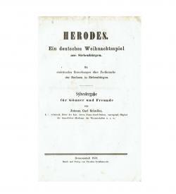 Schuller Herodes 1859 Titel