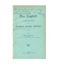 Kuderna Satzbilder 1895 Titel Widmung