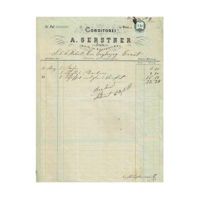 Gerstner Erzherzog Ernst Rechnung 1866