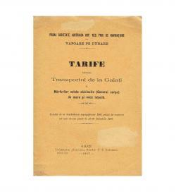 DDSG Tarife Rumaenien 1907 Umschlag