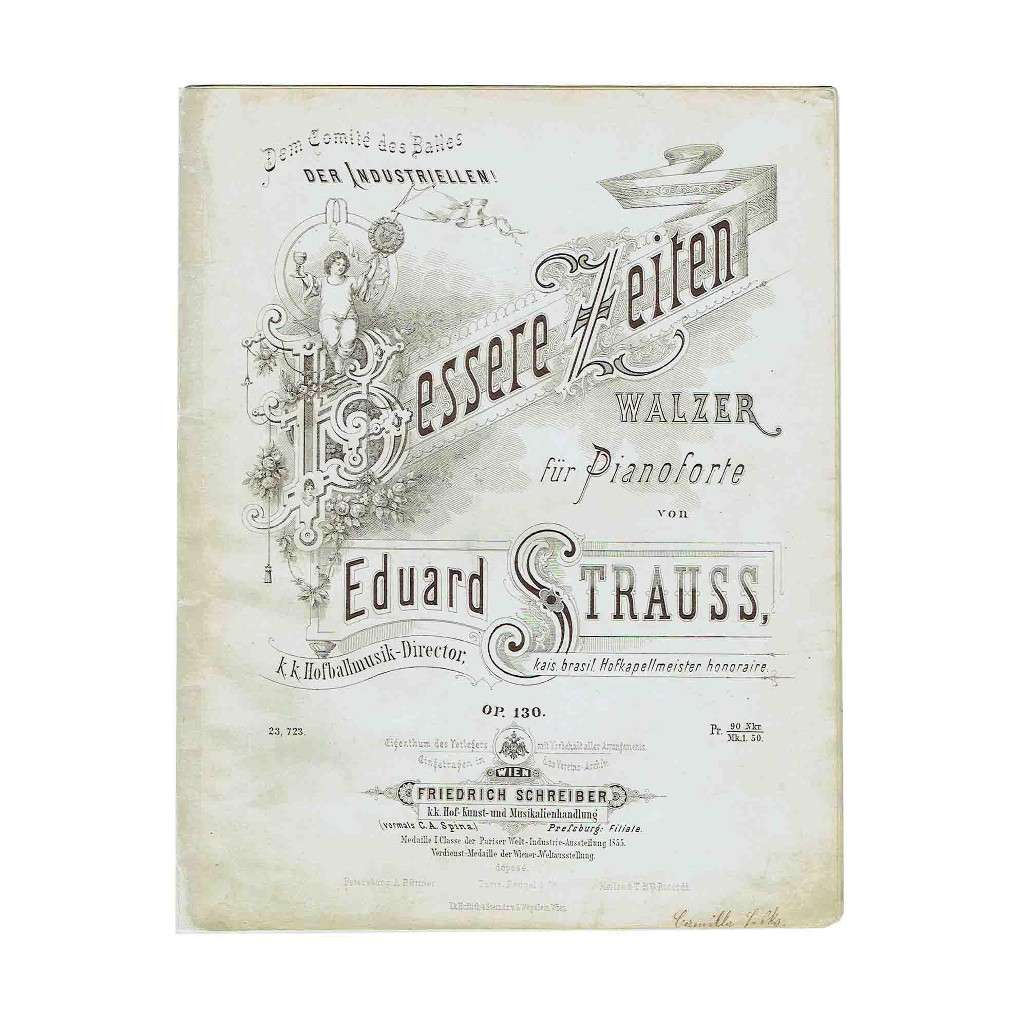 5457 Strauss Eduard Bessere Zeiten 1875 Umschlag frei N