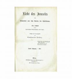 Delhez Licht des Jenseits Zeitschrift 1867