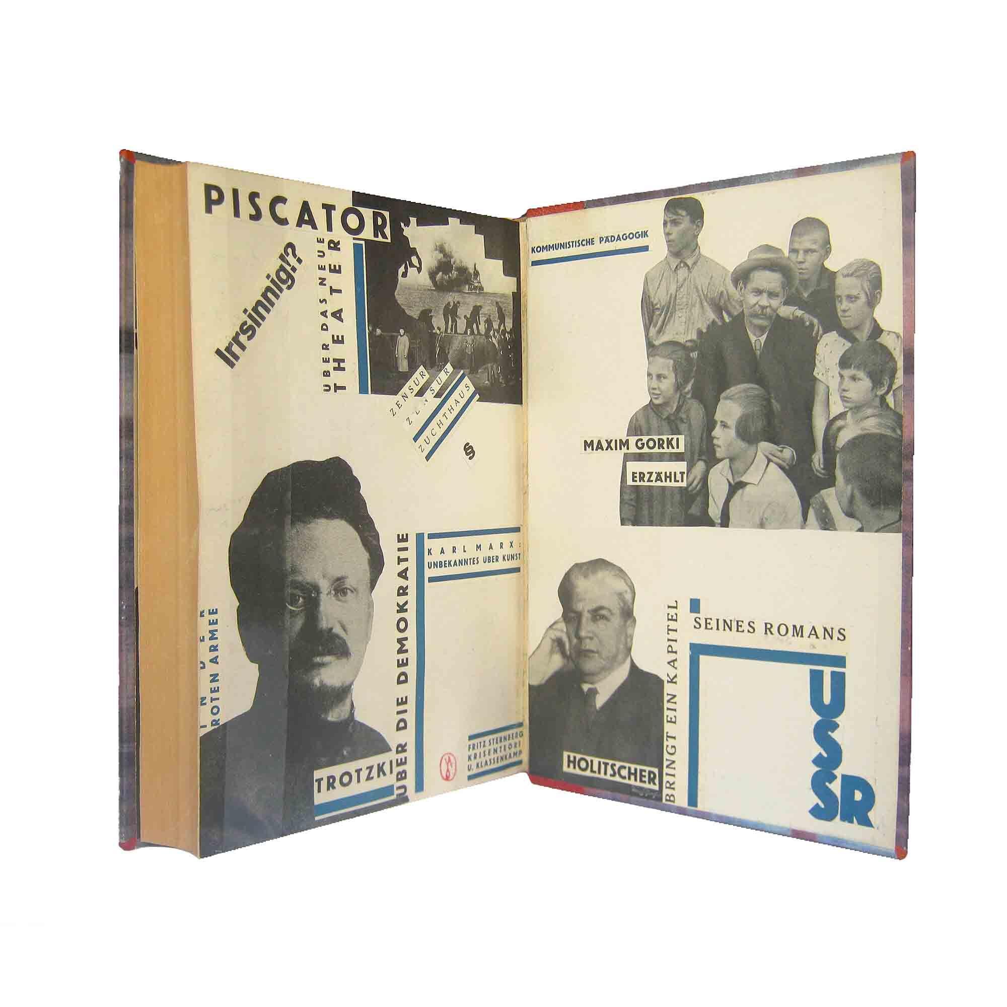 5479 Pohl Bücherschau 1929 Handeinband Collage verso frei N