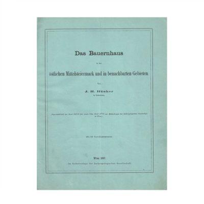 Bünker Bauernhaus Mittelsteiermark 1897 Umschlag recto
