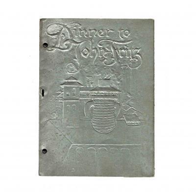Fritz Sindelar Dinner menu 1902 Cover recto
