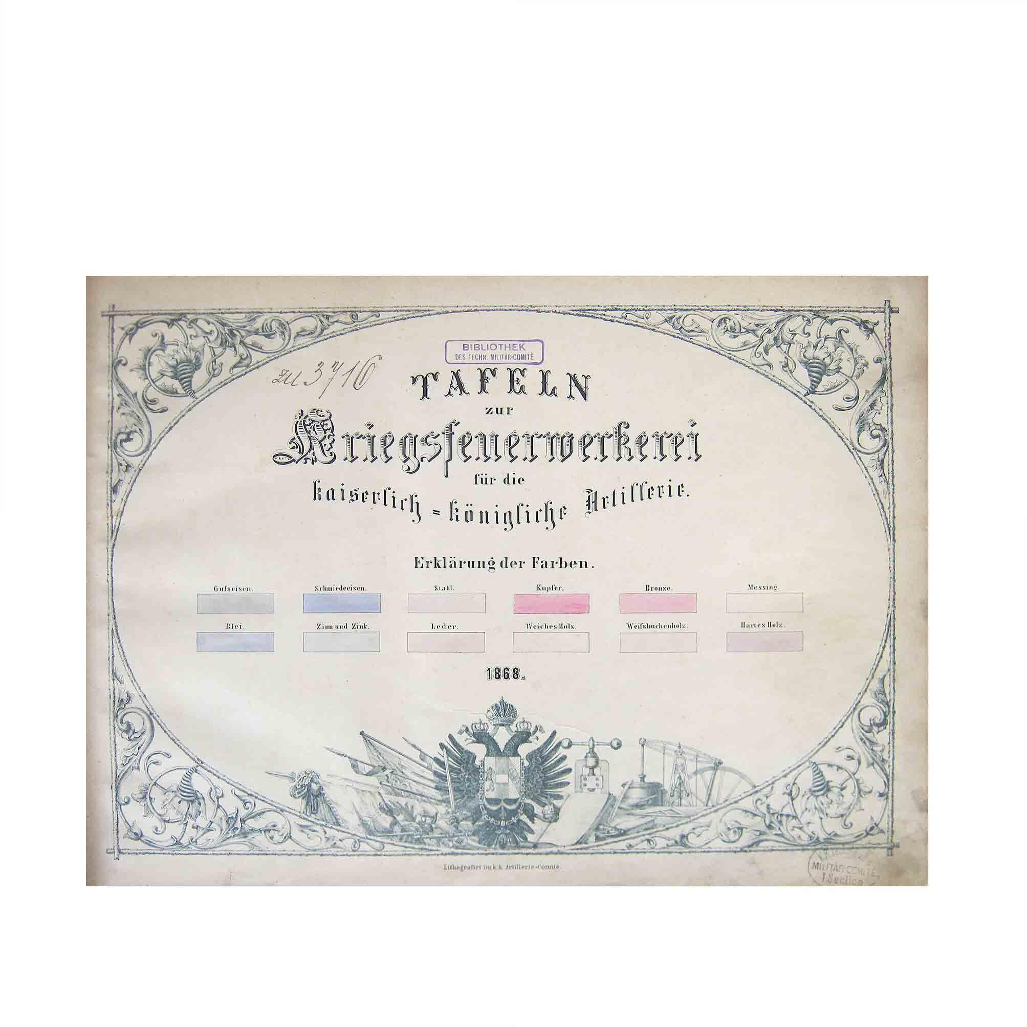 5502 Tafeln Kriegsfeuerwerkerei 1868 Titel A N