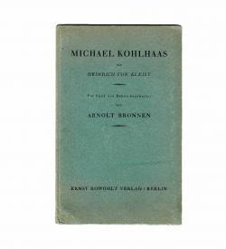 Bronnen Kleist Kohlhaas 1929 Einband frei