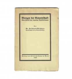 Plessner Gemeinschaft 1924 Umschlag