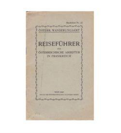 Wanderungsamt Reiseführer Frankreich 1929 Umschlag