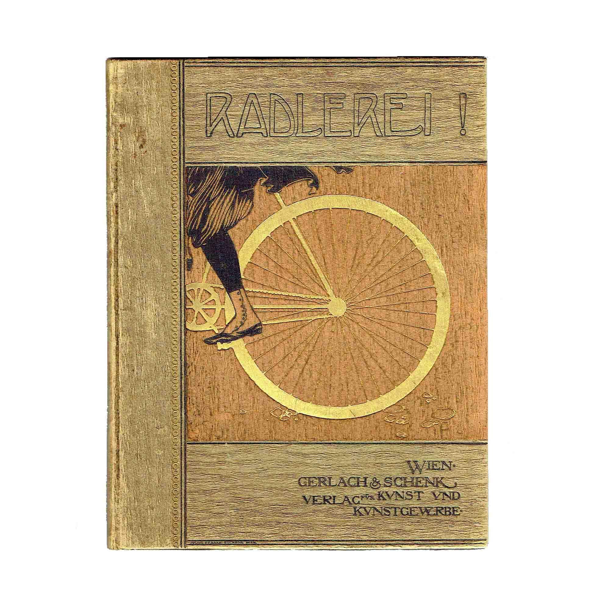 5526 Radlerei Wien Jugendstil 1897 Einband 2 frei N