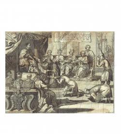 Tachard Audienz Innonzenz XIII Siam 1689 Kupfer