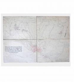 Handschriftliche Militaer Karte Szeged 1845