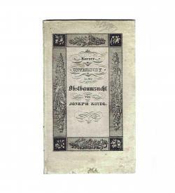 Koydl Obstbaumzucht 1834 Umschlag Lithografie