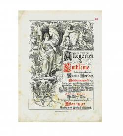 Gerlach Mappe Allegorien 1882 Werktitel